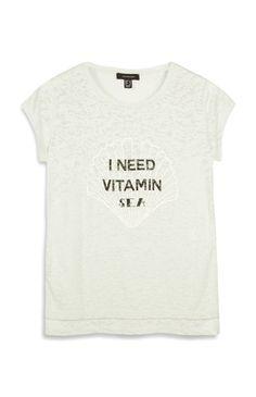 Mintgrünes T-Shirt mit Schriftzug