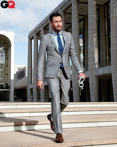 Power You Can Afford  David Lee McInnis, 38  Actor-producer    A legit banker's pinstripe for under $250? That's what you call buying low.    Suit, $239 by Zara. Shirt by Ermenegildo Zegna. Tie by J.Crew. Shoes by Ralph Lauren.