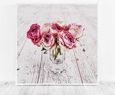 Rose Print Art, Pink Rose Photo, Digital Photography, Girly Art Print, Printable Woman Gift, Living Room Decor, Office Artwork, Rose Decor