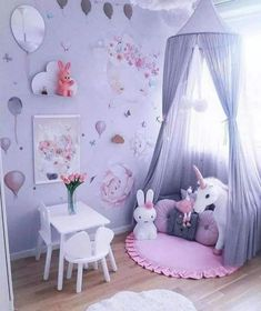 cute and girly bedroom decorating tips for girl 15 Baby Bedroom, Baby Room Decor, Girls Bedroom, Baby Room Design, Girl Bedroom Designs, Modern Girls Rooms, Bedroom Decorating Tips, Toddler Rooms, Kids Rooms