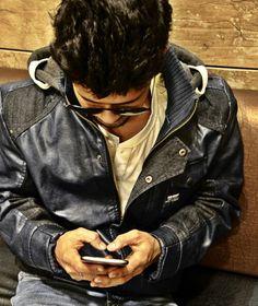 Photography **denim blue jacket**