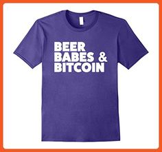 Mens Beer, Babes, and Bitcoin T-Shirt 2XL Purple - Food and drink shirts (*Partner-Link)