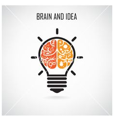 Creative light bulb and brain symbol vector 1857894 - by chatchai5172 on VectorStock®