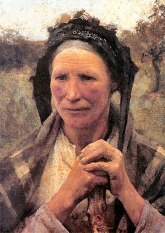George Clausen Head of a Peasant Woman