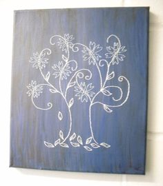 Hey, I found this really awesome Etsy listing at https://www.etsy.com/listing/179973231/stitched-art-flower-painting-lilac-white
