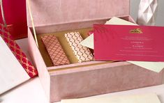 Using pastel colors, different elements of the God have been used to decorate the invites while the soft jacket Business Invitation, Wedding Invitation Cards, Wedding Stationery, Invites, Laser Cut Box, Personalized Stationary, Indian Wedding Cards, Wedding Card Design, Table Cards