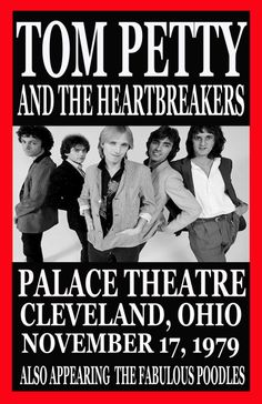 Tom Petty And The Heartbreakers Concert Poster https://www.facebook.com/FromTheWaybackMachine