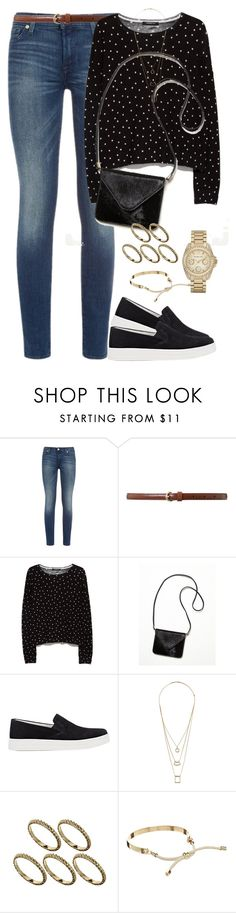 """""""Simple"""" by pakistan-girl ❤ liked on Polyvore featuring 7 For All Mankind, Lauren Ralph Lauren, MANGO, Free People, Prada Sport, Miss Selfridge, ASOS, Pieces and Michael Kors"""