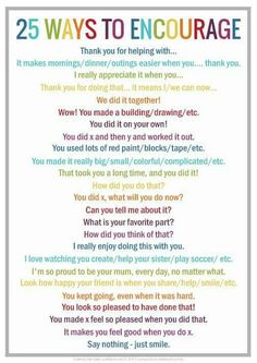 Great list for kids instead of saying good job
