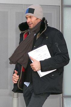 GUYS. It's Hugh Jackman holding Les Mis sheet music. <3