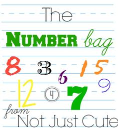 This is the BEST way to cover a lot of math concepts in preschool in a very natural, playful way! Introducing the Number Bag: Teaching Preschool Math Concepts with Meaningful Objects - Not Just Cute