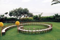 Love this #ceremony #seating | Maui Wedding from Wendy Laurel Photography  Read more - http://www.stylemepretty.com/destination-weddings/2013/08/19/maui-wedding-from-wendy-laurel-photography-2/