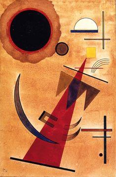 'Rot in Spitzform' - Wassily Kandinsky - (1925)