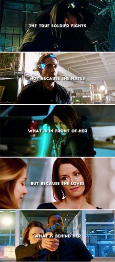 The true soldier fights not because she hates what is in front of her but because she loves what is behind her. #supergirl