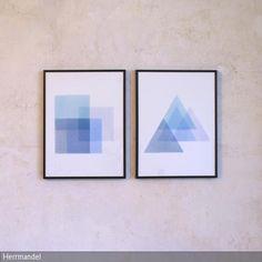 Durch Schablonentechnik in Verbindung mit Aquarell entsteht dieses minimalistische Bilderset. Durch die überlappenden Ebenen entstehen neue Farben und Formen.   Das …