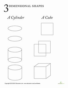 three dimensional shapes coloring pages - photo#27