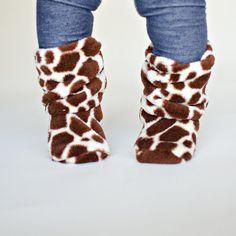 giraffe print slouchy baby boots!