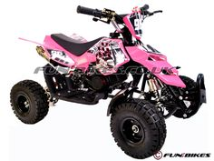 mini quad | Kids Mini Quad Bike - Pink - FunBike 49cc Quadard