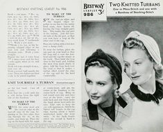 Vintage knitting pattern from V and A museum archives Knitting Patterns Free, Knit Patterns, Vintage Patterns, Sewing Patterns, Knitting Ideas, Free Pattern, Vintage Knitting, Vintage Crochet, Tejidos