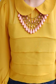 Mustard a colour must for me on pinterest mustard yellow for Mustard colored costume jewelry