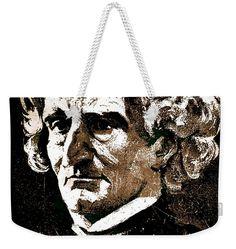 Louis Hector Berlioz Weekender Tote Bag featuring the mixed media Hector Berlioz by Otis Porritt