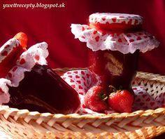 receptyywett                                                 : Domáci jahodový džem a ovocná torta s jahodami.