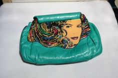 Vintage Patricia Smith Moon Bag 1980 Handbag Clutch Seen on ebay for $795.00 - unbelievable price!  July 20, 2014.