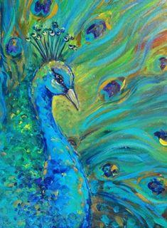 Easy Canvas Painting Ideas For Beginners #canvaspaintingbirds #OilPaintingForBeginners