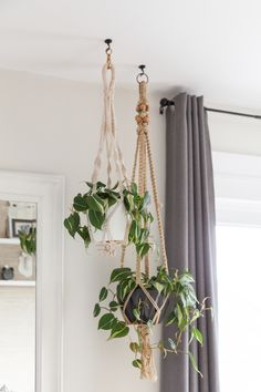 Newest Totally Free Macrame Plant Hanger living room Suggestions Bright bedroom with crocheted plant hangers. House Plants Decor, Bedroom Plants, Hanging Planters, Indoor Plant Hangers, Plant Holders, Indoor Plants, Decoration, Home, Modern Design