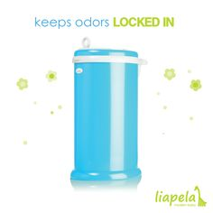 We all want to forget about diaper odor! The Ubbi Diaper Pail (US)$79.99 is made with powder coated steel to lock in the bad odors.   @ubbiworld employs a rubber seal and sliding led to keep the smell in. Equipped with a child-proof lock, this modern take on a boring item is a must-have for your nursery.  Like on Instagram @LiapelaModernBaby