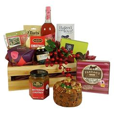 The Holly Christmas Basket Christmas Gift Baskets, Holly Christmas, Christmas Gifts, Nectarine Chutney, Men And Babies, Best Gift Baskets, Liquorice Allsorts, New Zealand, Baby Gifts