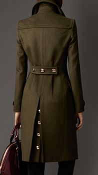 Wool Cashmere Military Coat   Burberry