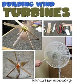 Inquiry Engineering Lab: from STEMmom.org provides an entire lesson plan and group of activities for learning about wind power.  Learn more about this energy source while creating at-home wind turbines out of a collection of household items.