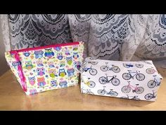 (14) DIY Necessaire com costura francesa - YouTube Zipper Pouch Tutorial, Craft Tutorials, Craft Videos, Diy, Quilts, Patchwork Quilting, Youtube, Sewing, How To Make