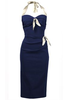 Coquette Wiggle Dress - nautical - Fashion 1930s, 1940s & 1950s style - vintage reproduction