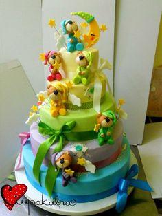 teddy bears shower cake