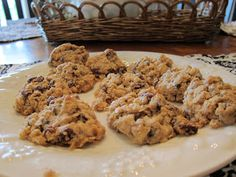 Oatmeal Raisin Cookies (with NO sugar, dairy or wheat)