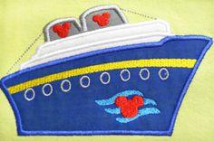 Cruise Ship Applique Machine Embroidery Designs by AppliquesByMe