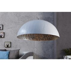 Moderne hanglamp Glow wit zilver 70cm - 10723