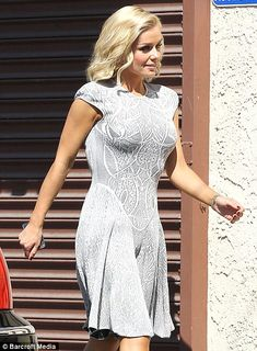 Dancing With The Stars: Katherine Jenkins shows off her curves in a ladylike dress