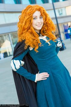 """Merida from Pixar's Brave by Red Fae Cosplay, photo by David """"DTJAAAAM"""" Ngo (both on Facebook) 