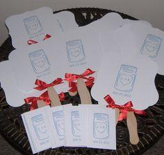 Mason Jar Wedding Fan by wreathartist on Etsy, $37.50