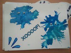 Tapa d'àlbum feta amb taques de pintura. Cedida per Montse Maruny.