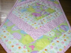 Pastel Easter Table Runner  16 x 38 1/2