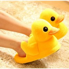 $15.79  Novelty Yellow Duck Adult Cartoon Plush Slippers
