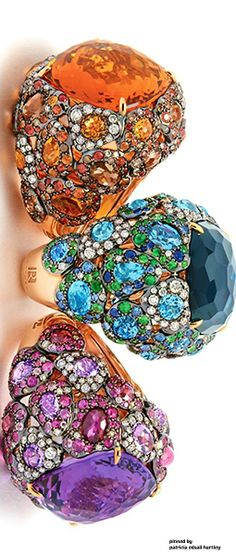 Rings-colors tourmalines
