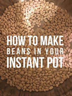 Cooking beans in your Instant Pot is one of the easiest things to do - but before you get started, you might want to read our tips! Pressure Cooker Beans, Instant Pot Pressure Cooker, Pressure Cooking Recipes, Crock Pot Cooking, Easy Cooking, Healthy Cooking, Healthy Food, Healthy Recipes, Instapot Beans
