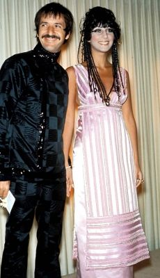 Sonny and Cher at the Academy Awards in 1968