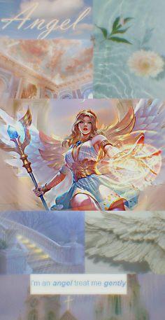 Mobile Legend Wallpaper, Mobile Legends, Aesthetic Wallpapers, Holi, Wings, Geek Stuff, Princess Zelda, Angel, Animation
