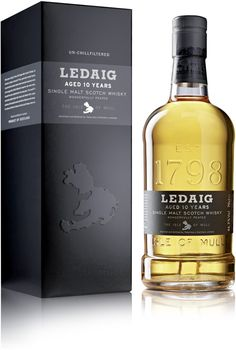 Ledaig 10 Year Old: Simple but not off-putting. Not a bad introduction to peated…